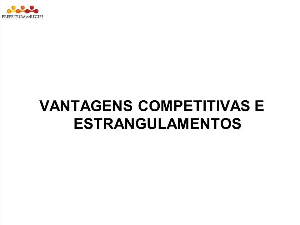 Estudo Prospectivo Inovações Tecnológicas e Cadeias Produtivas Selecionadas VANTAGENS COMPETITIVAS E ESTRANGULAMENTOS