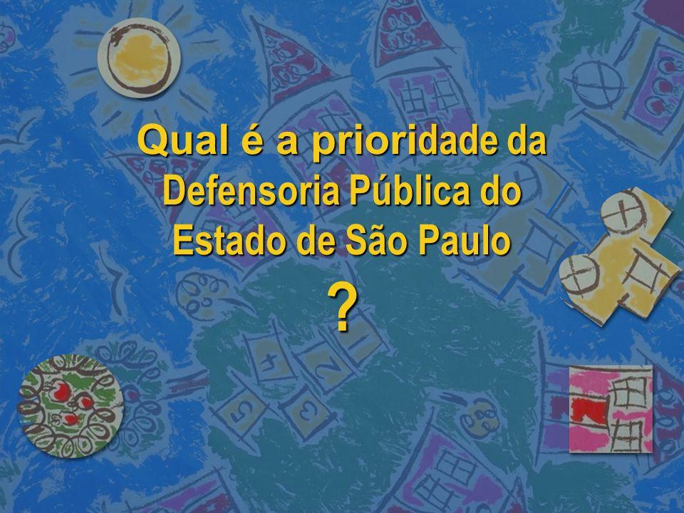 Qual é a priori dade da Defensoria Pública do Estado de São Paulo ?