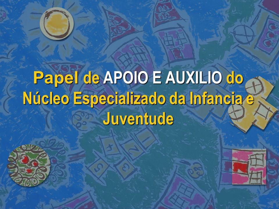 Papel de APOIO E AUXILIO do Núcleo Especializado da Infancia e Juventude