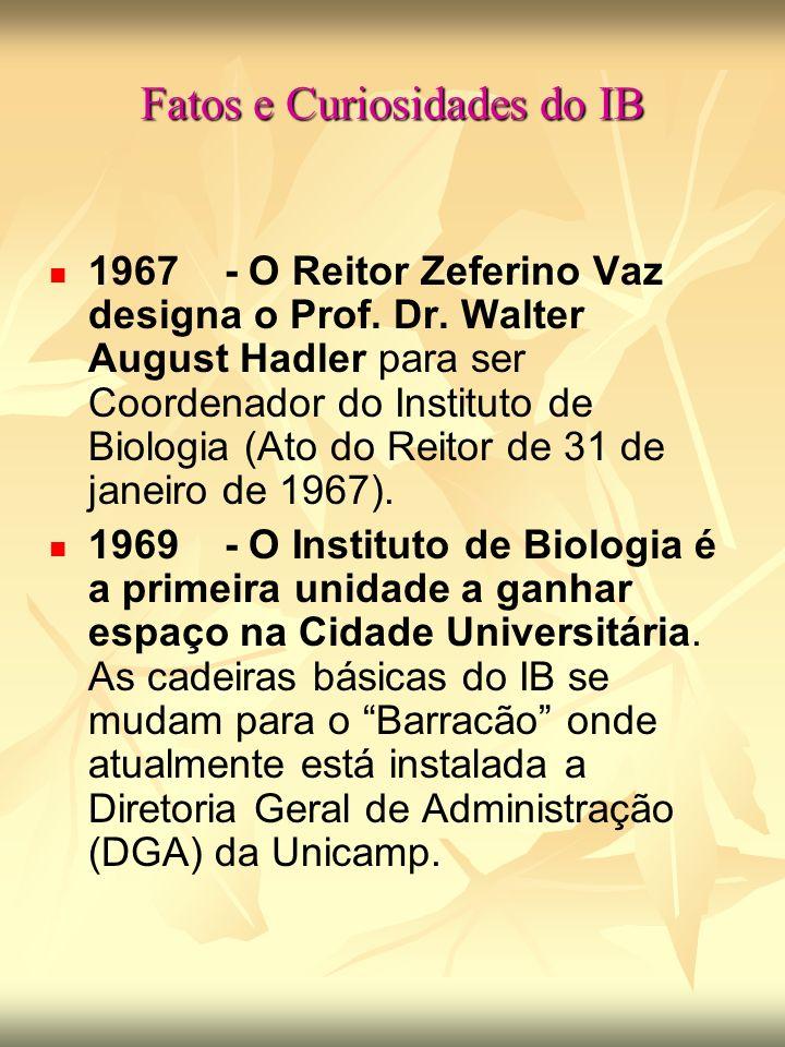 Fatos e Curiosidades do IB 1967 - O Reitor Zeferino Vaz designa o Prof.