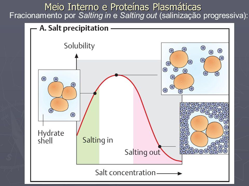 Meio Interno e Proteínas Plasmáticas Fracionamento por eletroforese:
