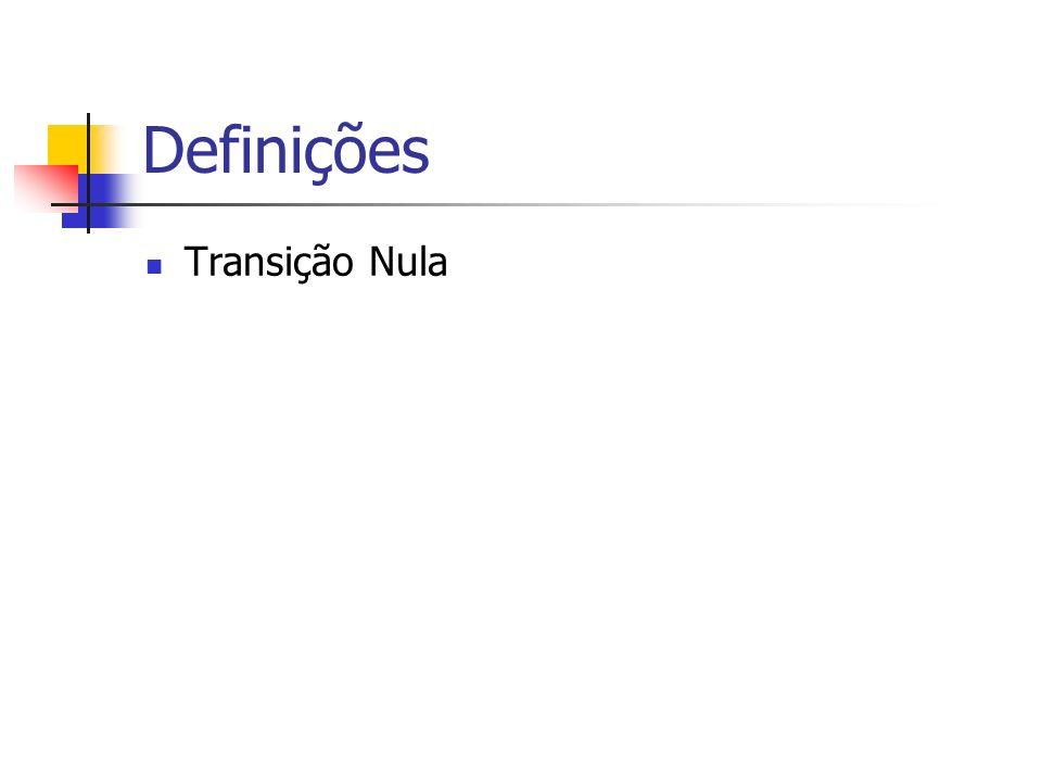 Definições Transição Nula