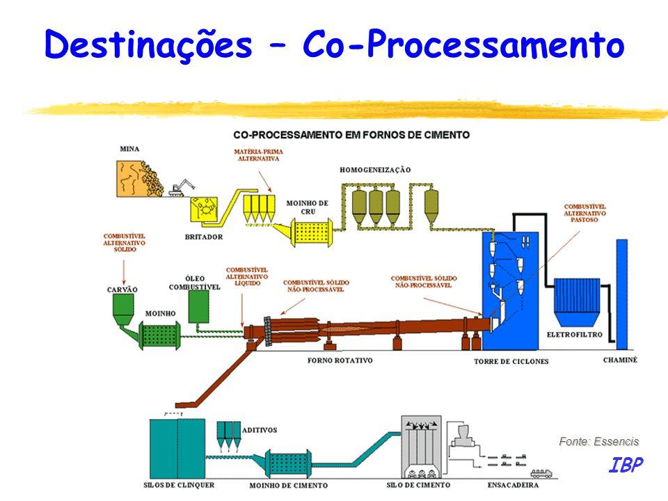 131 Fonte: Essencis IBP Destinações – Co-Processamento