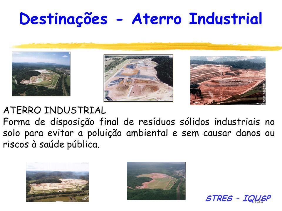 133 ATERRO INDUSTRIAL Forma de disposição final de resíduos sólidos industriais no solo para evitar a poluição ambiental e sem causar danos ou riscos