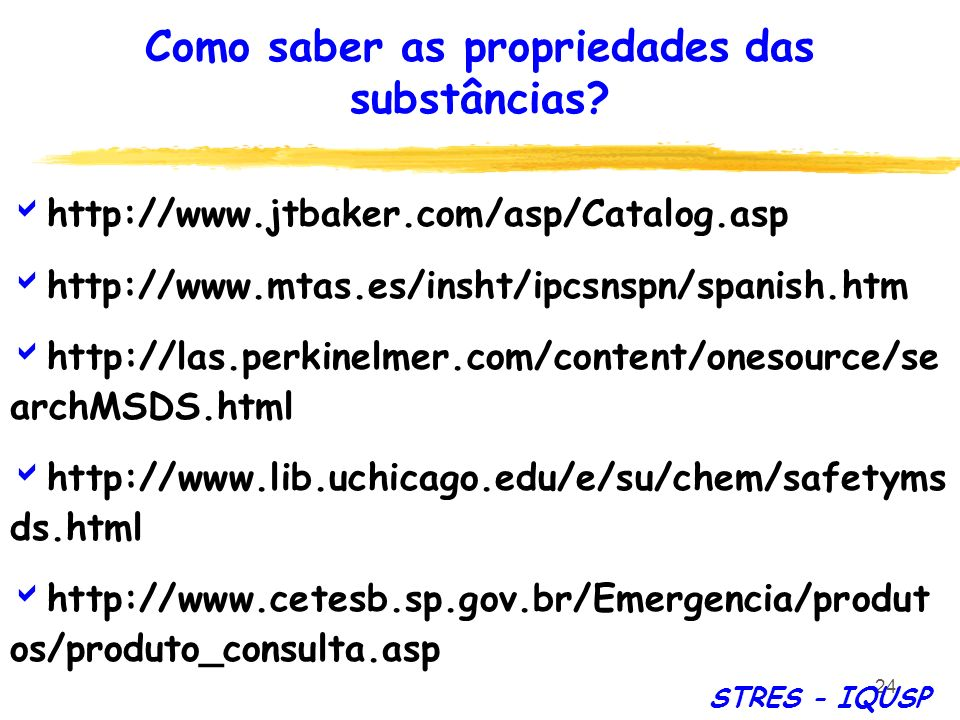 24 http://www.jtbaker.com/asp/Catalog.asp http://www.mtas.es/insht/ipcsnspn/spanish.htm http://las.perkinelmer.com/content/onesource/se archMSDS.html