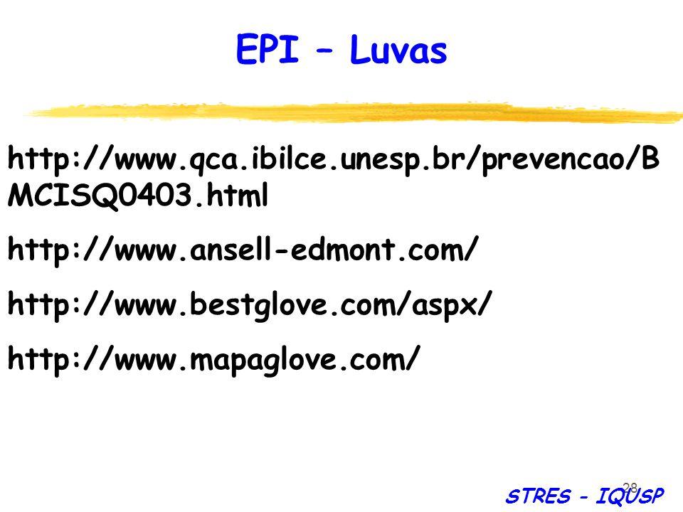 28 http://www.qca.ibilce.unesp.br/prevencao/B MCISQ0403.html http://www.ansell-edmont.com/ http://www.bestglove.com/aspx/ http://www.mapaglove.com/ EP
