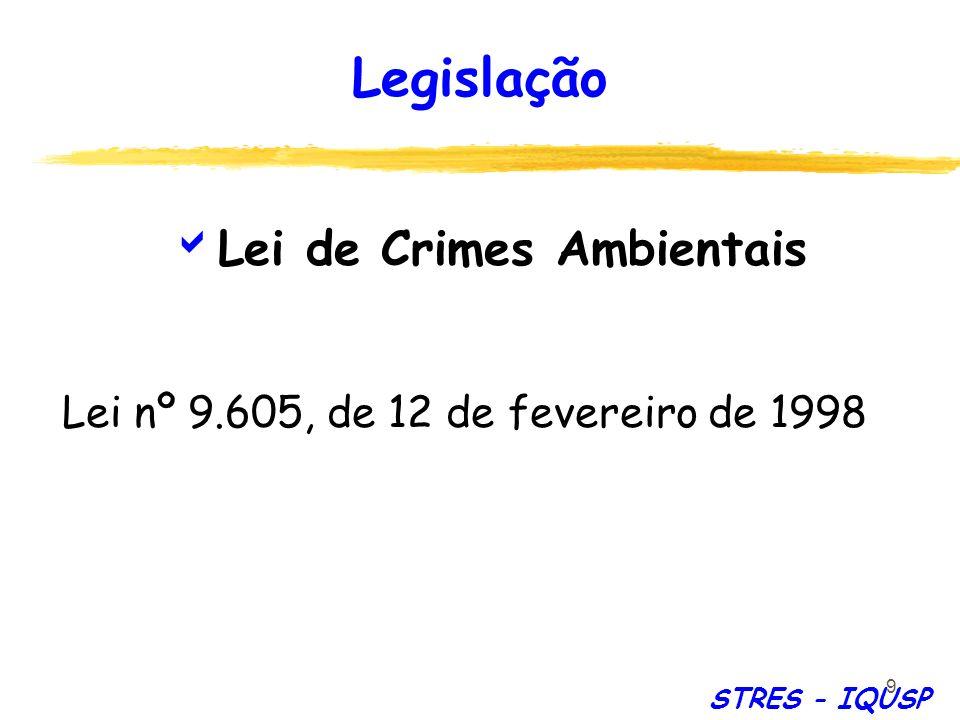 9 Lei de Crimes Ambientais Lei nº 9.605, de 12 de fevereiro de 1998 Legislação STRES - IQUSP