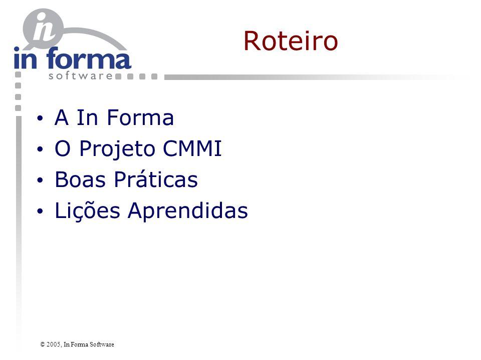 © 2005, In Forma Software Perfil Breve da Empresa In Forma Software