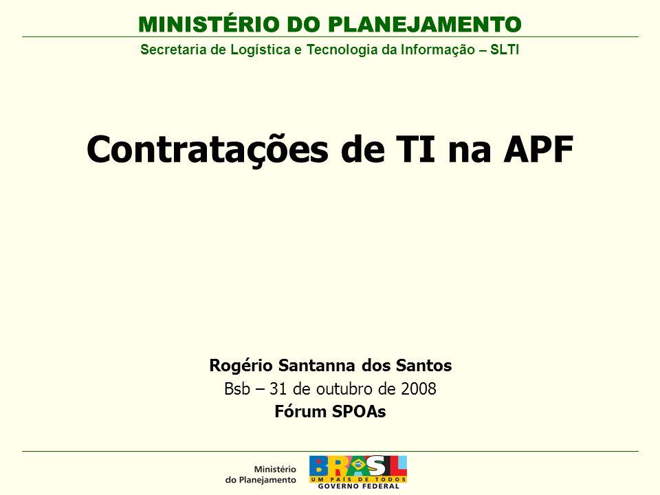 MINISTÉRIO DO PLANEJAMENTO Agenda Contexto Instrução Normativa nº 4/2008 Modelo de Governança de TI