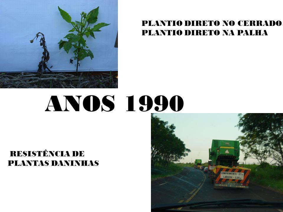 ANOS 1990 RESISTÊNCIA DE PLANTAS DANINHAS PLANTIO DIRETO NO CERRADO PLANTIO DIRETO NA PALHA