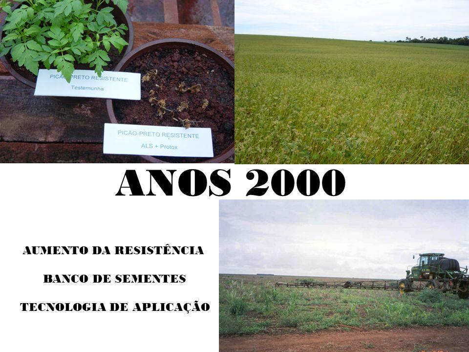 ANOS 2000 AUMENTO DA RESISTÊNCIA BANCO DE SEMENTES TECNOLOGIA DE APLICAÇÃO
