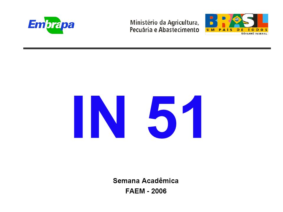 IN 51 Semana Acadêmica FAEM - 2006