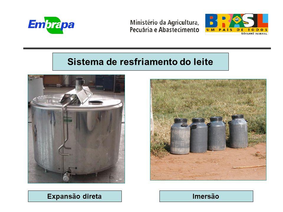Sistema de resfriamento do leite Expansão diretaImersão