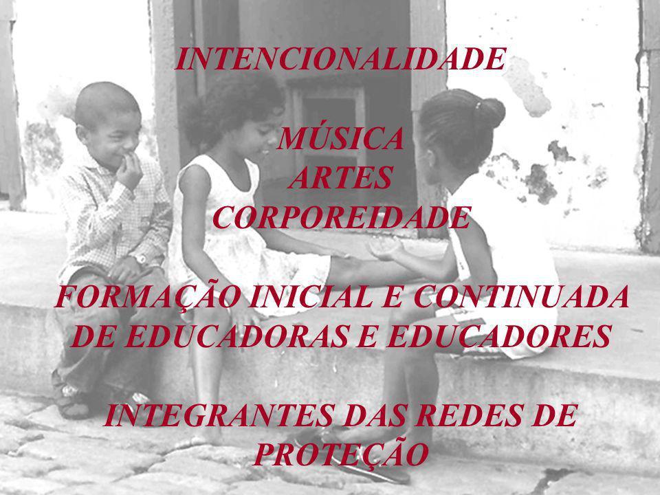 INTENCIONALIDADE MÚSICA ARTES CORPOREIDADE FORMAÇÃO INICIAL E CONTINUADA DE EDUCADORAS E EDUCADORES INTEGRANTES DAS REDES DE PROTEÇÃO
