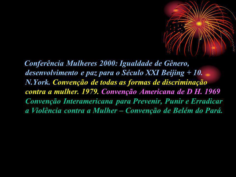 Documentos Internacionais Conferência Mulheres 2000: Igualdade de Gênero, desenvolvimento e paz para o Século XXI Beijing + 10. N.York. Convenção de t