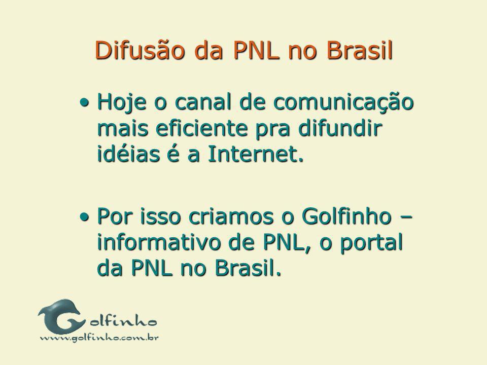 Difusão da PNL no Brasil Hoje o canal de comunicação mais eficiente pra difundir idéias é a Internet.Hoje o canal de comunicação mais eficiente pra di