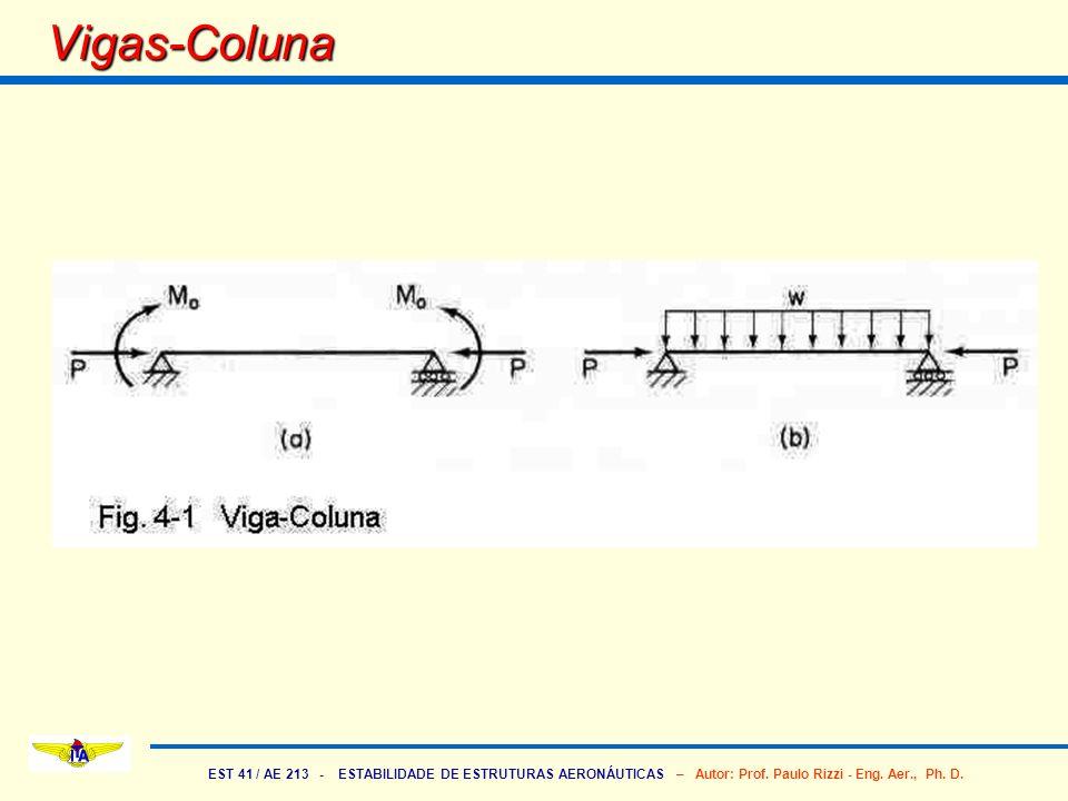 EST 41 / AE 213 - ESTABILIDADE DE ESTRUTURAS AERONÁUTICAS – Autor: Prof. Paulo Rizzi - Eng. Aer., Ph. D. Vigas-Coluna