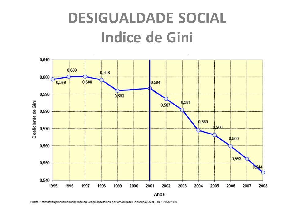 DESIGUALDADE SOCIAL Indice de Gini