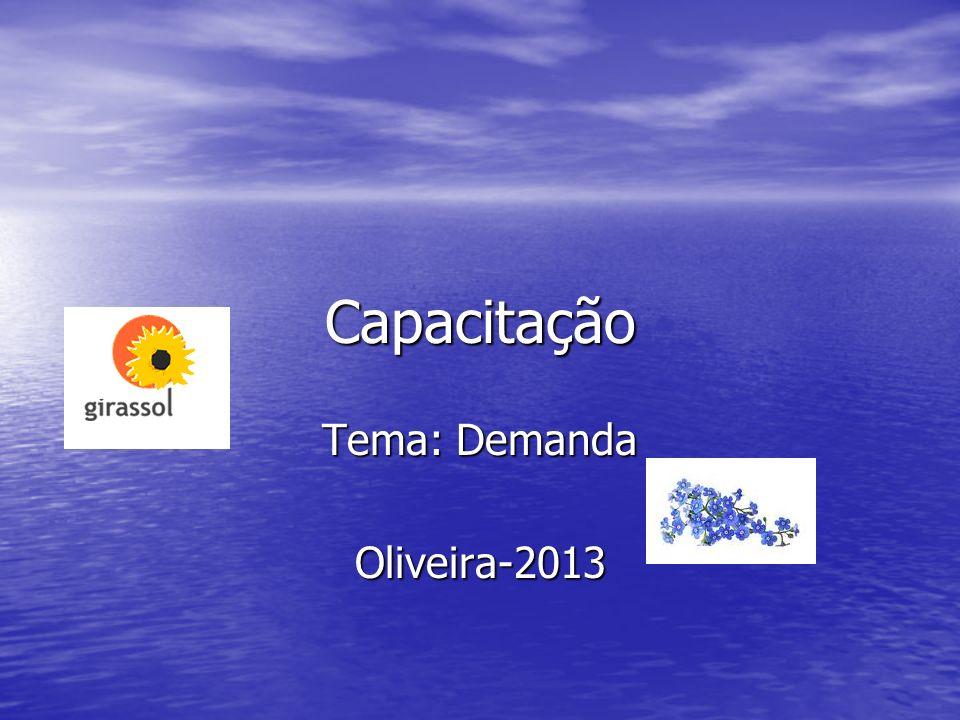 Capacitação Tema: Demanda Oliveira-2013