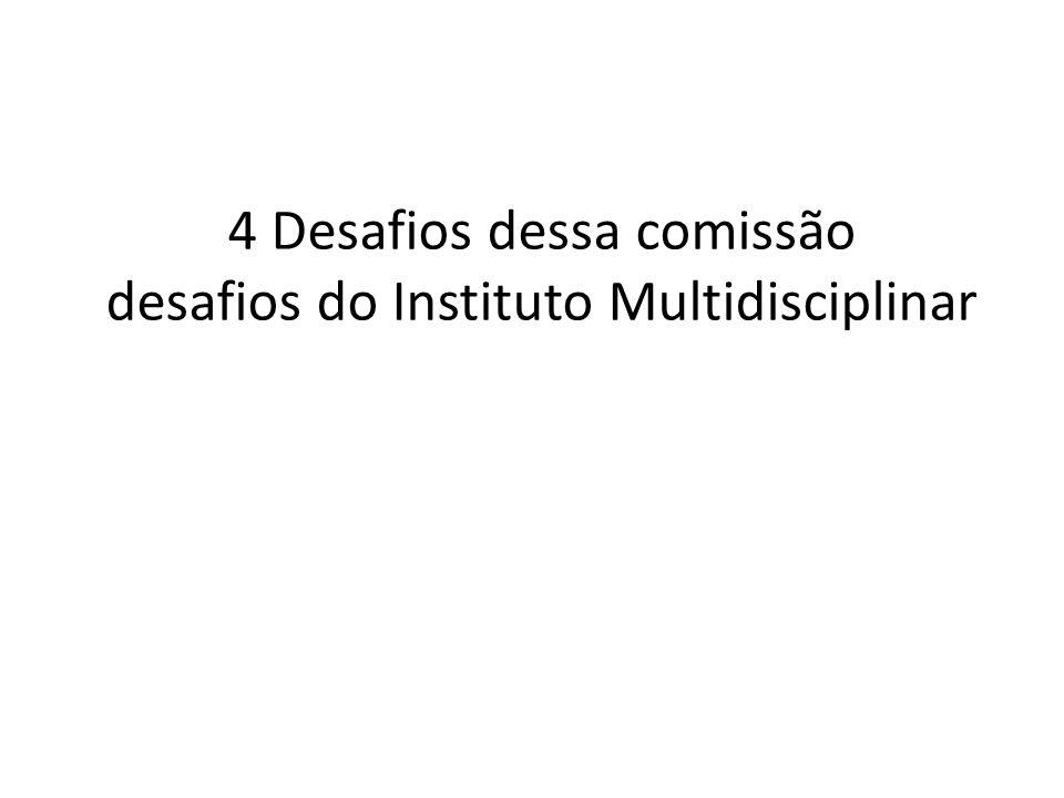 4 Desafios dessa comissão desafios do Instituto Multidisciplinar