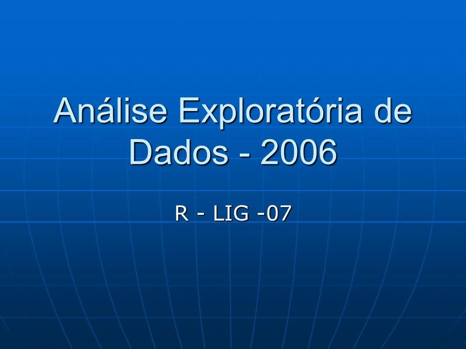 Análise Exploratória de Dados - 2006 R - LIG -07