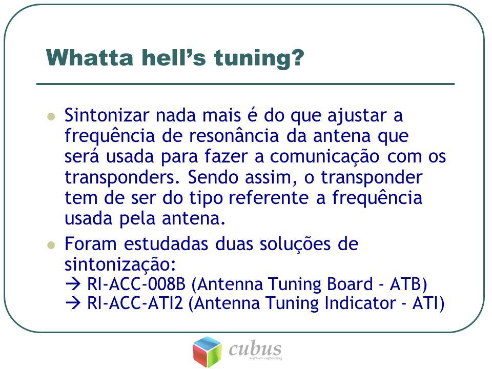 Whatta hells tuning? Sintonizar nada mais é do que ajustar a frequência de resonância da antena que será usada para fazer a comunicação com os transpo