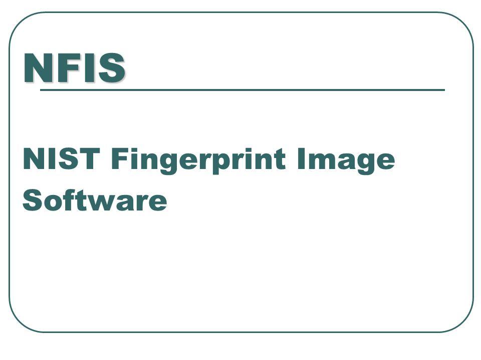 NFIS NFIS NIST Fingerprint Image Software