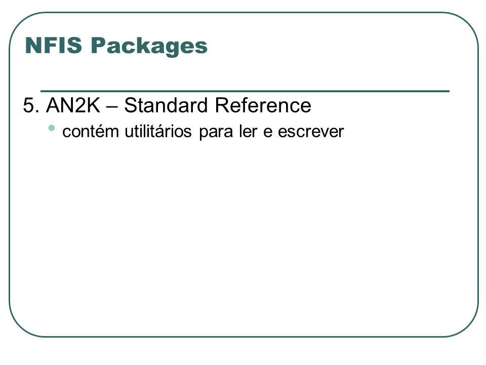 NFIS Packages 5. AN2K – Standard Reference contém utilitários para ler e escrever