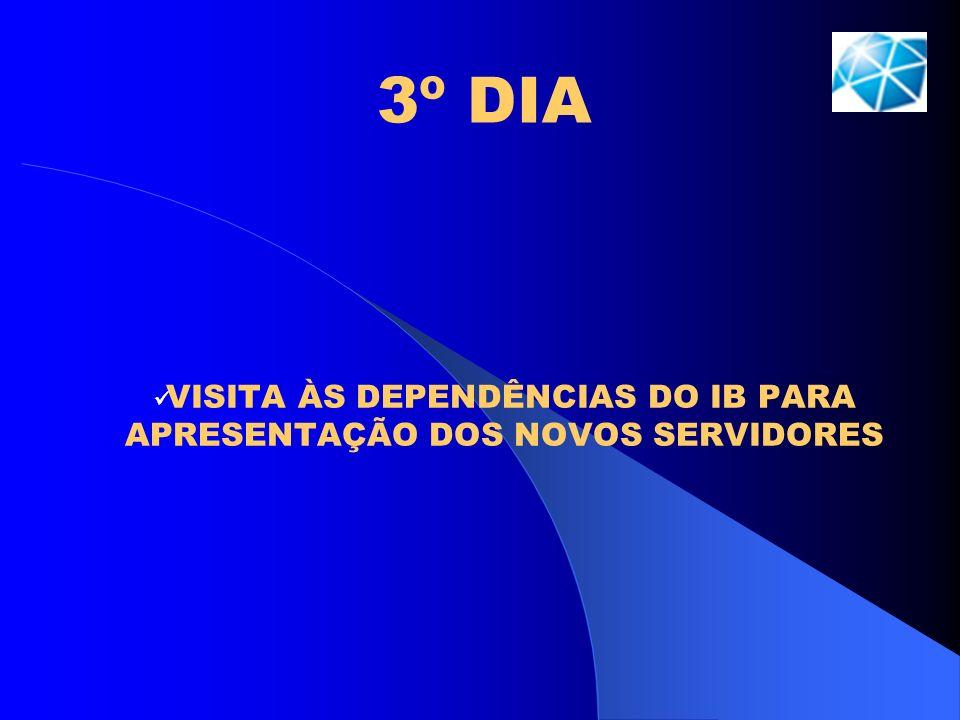 3º DIA VISITA ÀS DEPENDÊNCIAS DO IB PARA APRESENTAÇÃO DOS NOVOS SERVIDORES