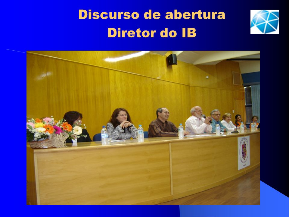 Discurso de abertura Diretor do IB
