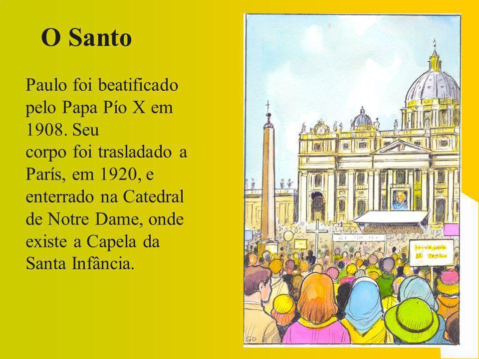 Uma fonte de santidade Antes de ser Carmelita, Santa e Padroeira das Missões, a pequena Teresa, em 12 de janeiro de 1882, com a idade de 9 anos, foi inscrita na Santa Infância.