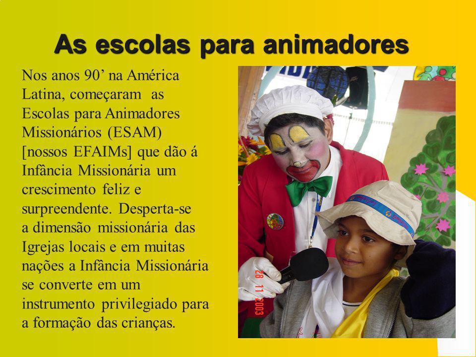 Em 1999 as Crianças Missionárias da América Latina celebram com os adultos, na Argentina, o CAM 1 – COMLA 6 Em 2002, em Porto Rico, se celebra o primeiro Congresso I.A.M.
