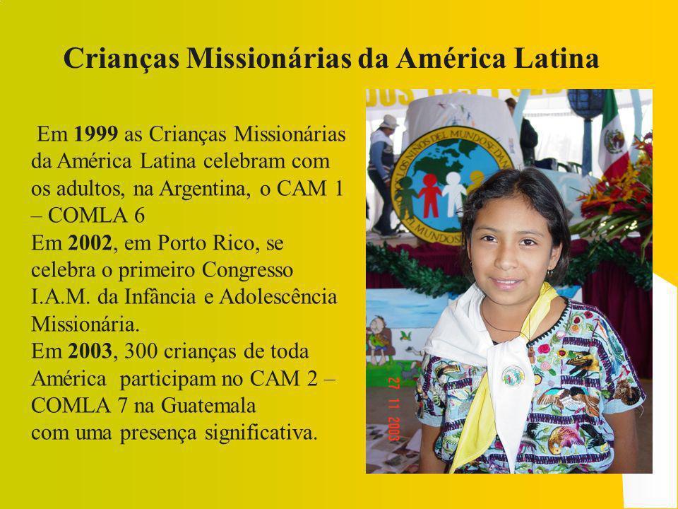 As crianças ajudam outras crianças com a oração, o sacrifício, os gestos de solidaridade Hoje em dia, a Infância Missionária está presente em mais de 130 nações.