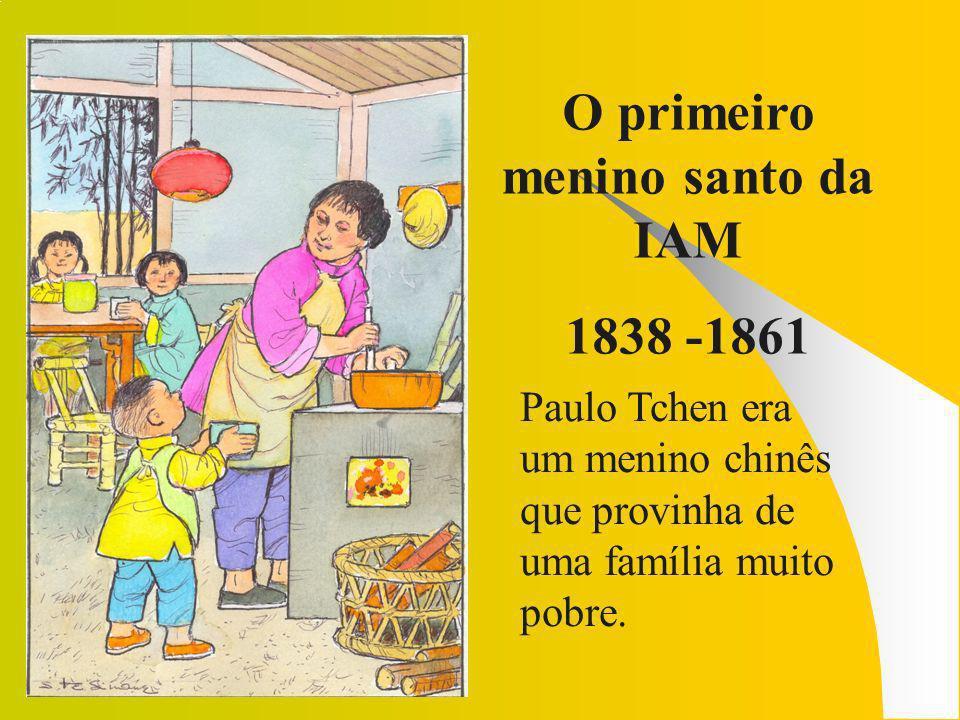 O menino missionário Aos três anos foi acolhido pela Santa Infância e recebeu com alegría a catequese.