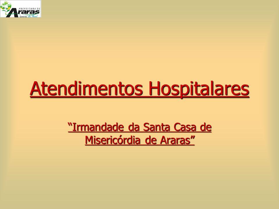 Atendimentos Hospitalares Irmandade da Santa Casa de Misericórdia de Araras