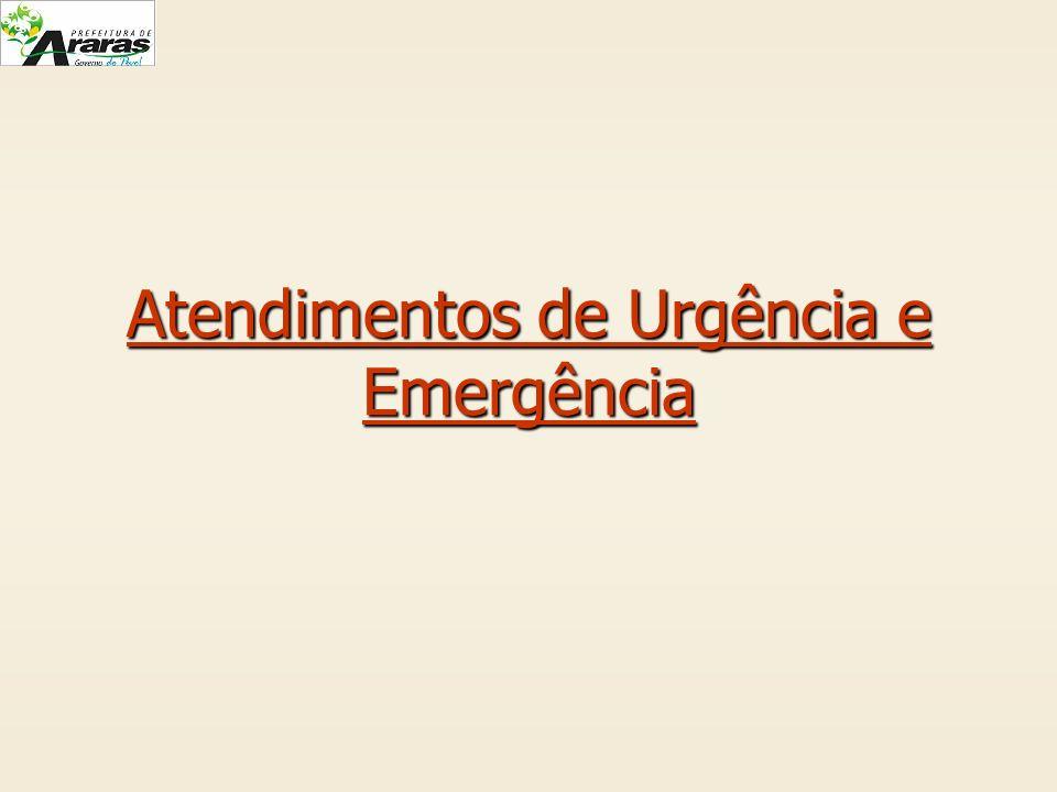Atendimentos de Urgência e Emergência