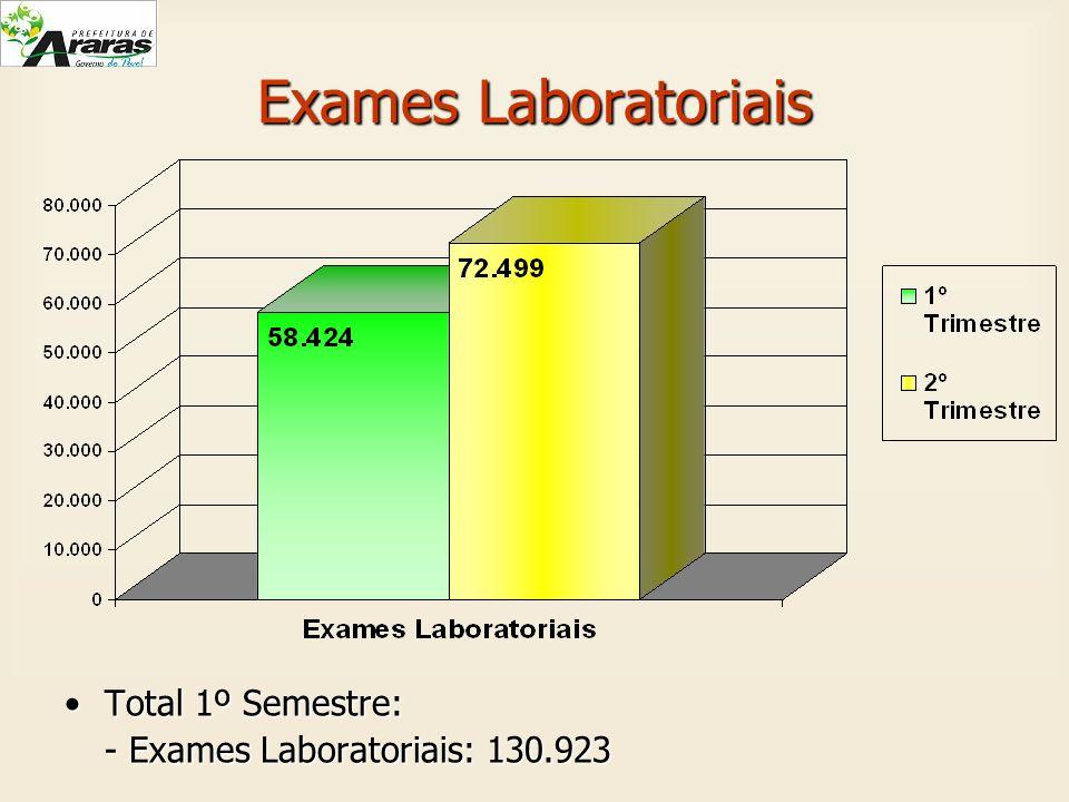Exames Laboratoriais Total 1º Semestre:Total 1º Semestre: - Exames Laboratoriais: 130.923