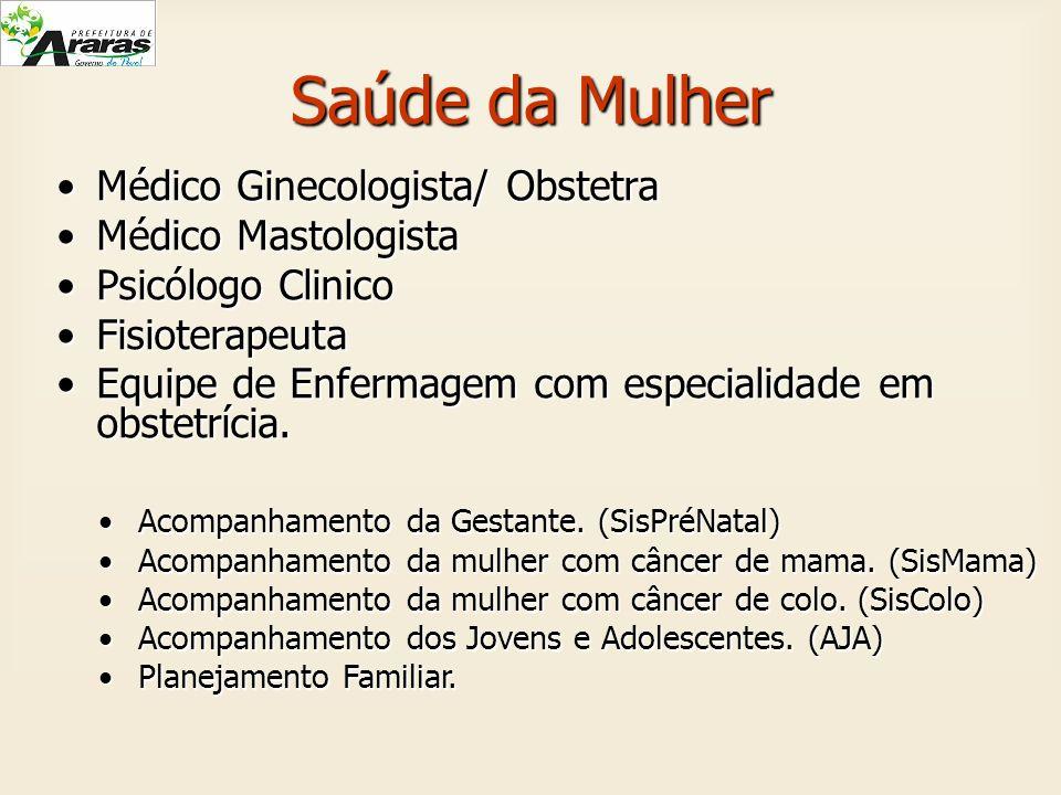 Saúde da Mulher Médico Ginecologista/ ObstetraMédico Ginecologista/ Obstetra Médico MastologistaMédico Mastologista Psicólogo ClinicoPsicólogo Clinico