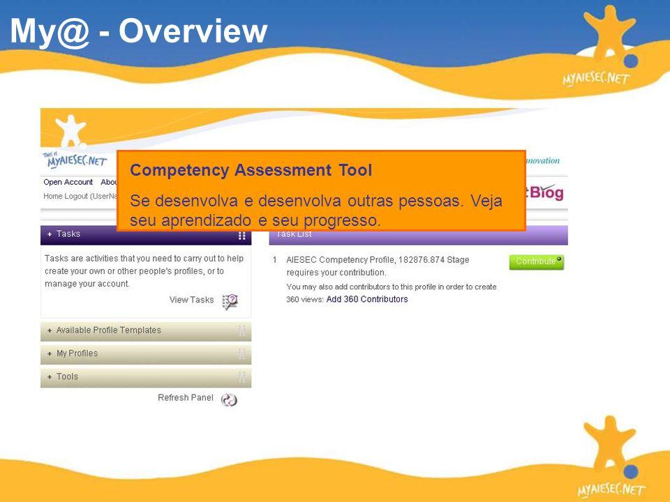 Competency Assessment Tool Se desenvolva e desenvolva outras pessoas. Veja seu aprendizado e seu progresso.