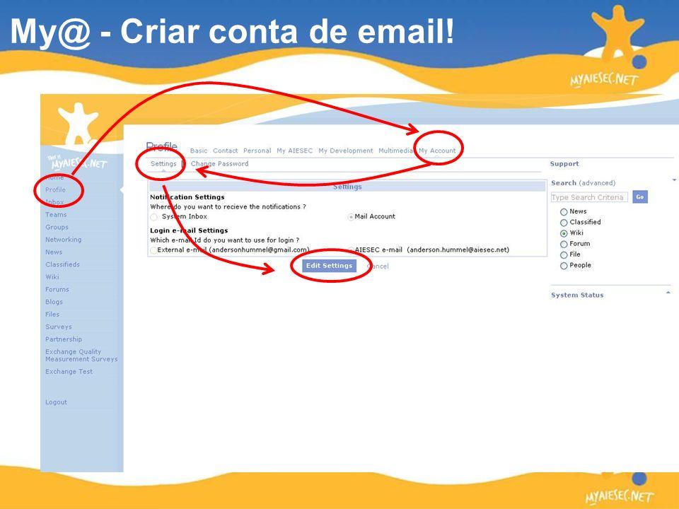 My@ - Criar conta de email!