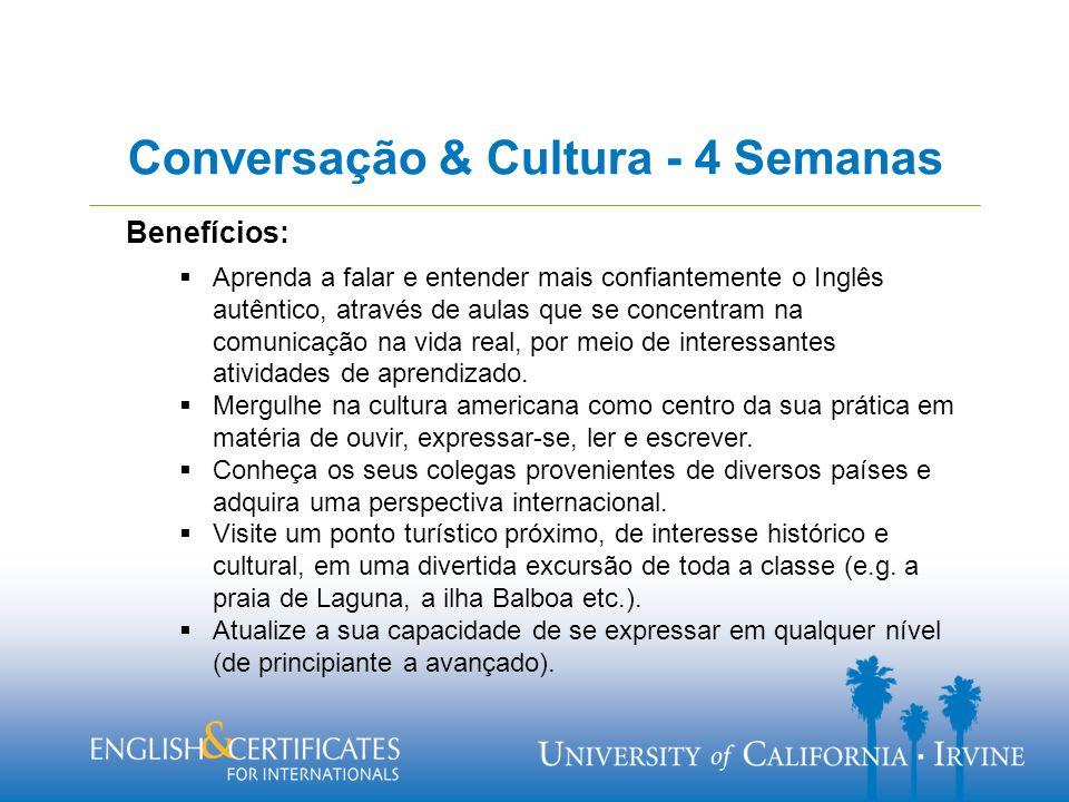 Benefícios: Aprenda a falar e entender mais confiantemente o Inglês autêntico, através de aulas que se concentram na comunicação na vida real, por meio de interessantes atividades de aprendizado.