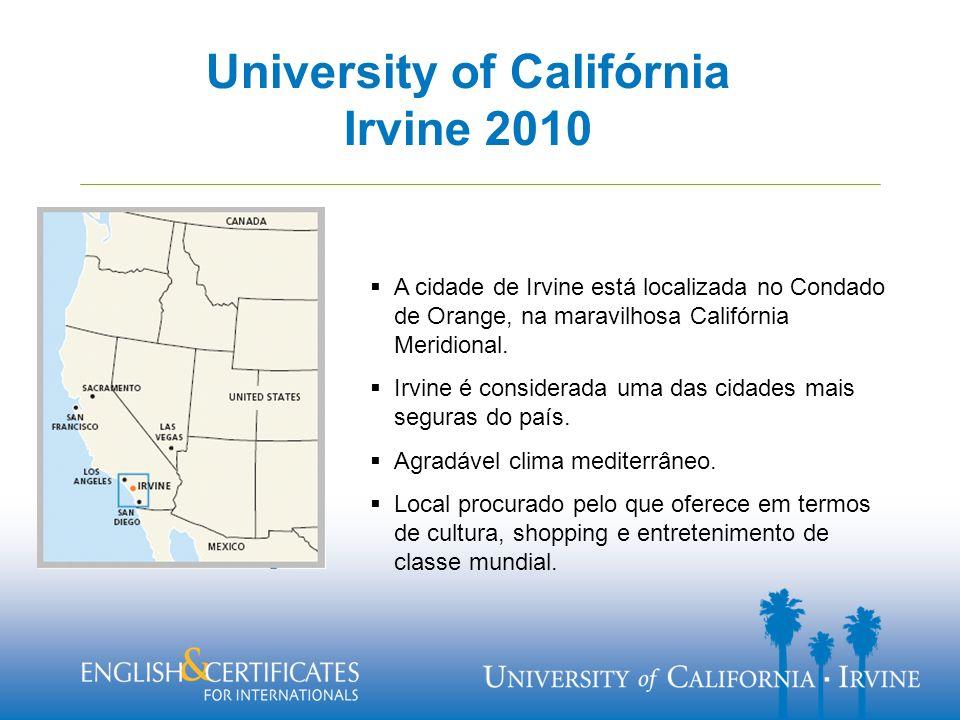 A cidade de Irvine está localizada no Condado de Orange, na maravilhosa Califórnia Meridional.