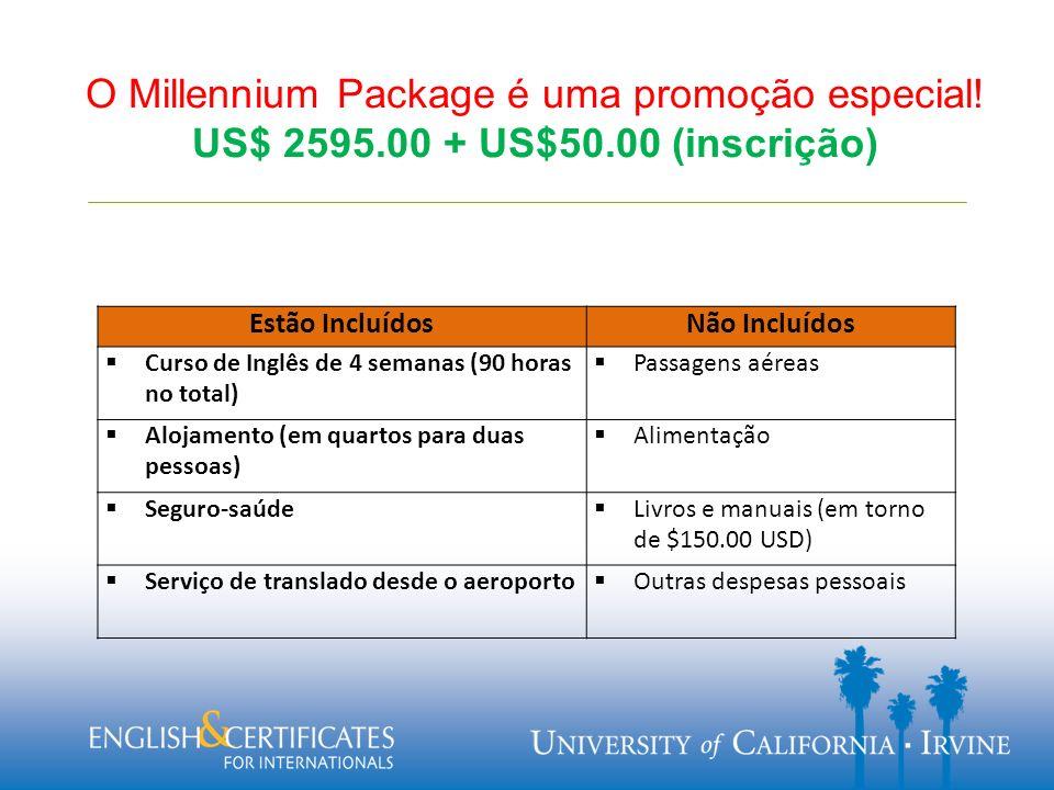 O Millennium Package é uma promoção especial.