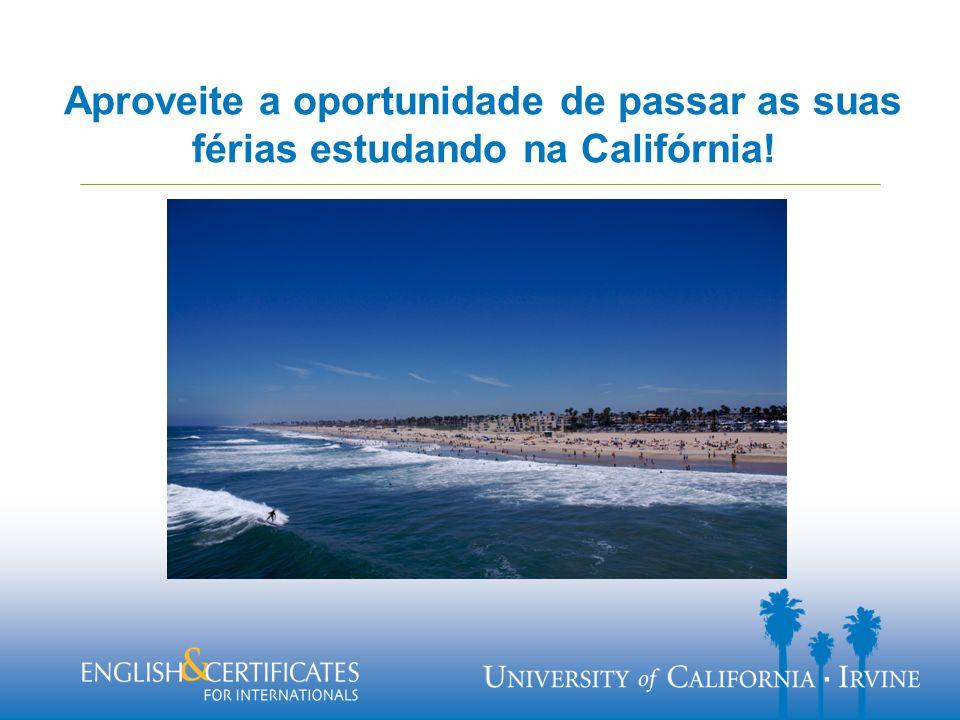 Aproveite a oportunidade de passar as suas férias estudando na Califórnia!