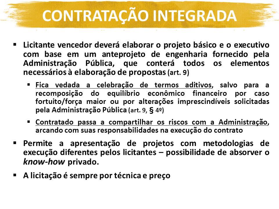 Licitante vencedor deverá elaborar o projeto básico e o executivo com base em um anteprojeto de engenharia fornecido pela Administração Pública, que c