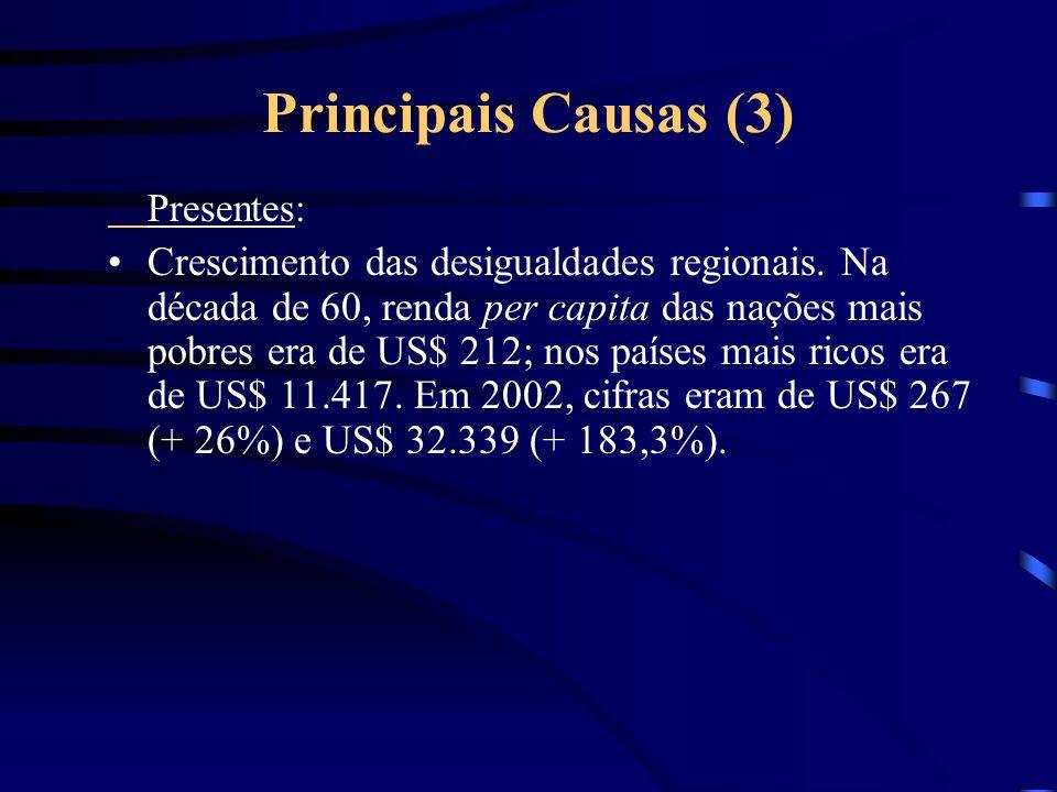Principais Causas (2) Presentes: Expansão da fronteira agrícola gado e madeira.