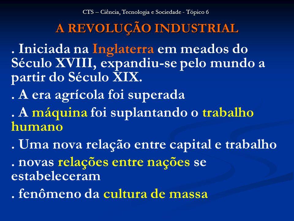 A REVOLUÇÃO INDUSTRIAL Origem : A Grã-Bretanha foi pioneira no processo da Revolução Industrial.