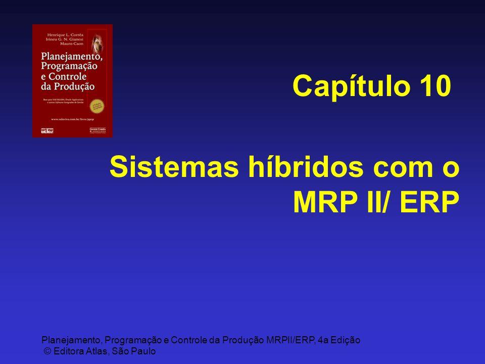 Planejamento, Programação e Controle da Produção MRPII/ERP, 4a Edição © Editora Atlas, São Paulo Sistemas híbridos com o MRP II/ ERP Capítulo 10