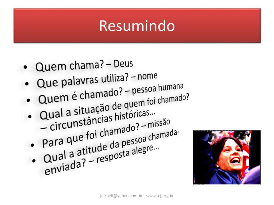Resumindo jairhell@yahoo.com.br - www.scj.org.br