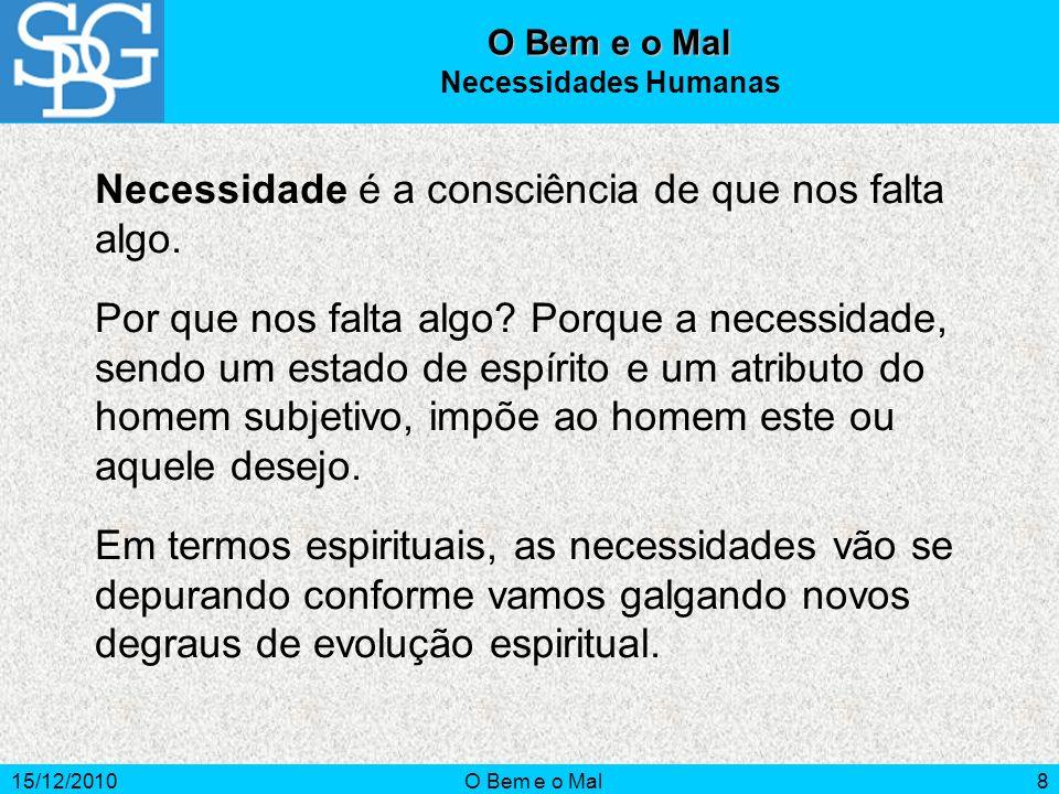 15/12/2010O Bem e o Mal9 Os Vícios Os vícios são as ações que tendem para mal.